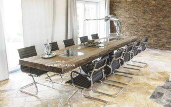 Langer Esstisch für 12 Personen