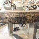 10 cm starke Tischplatte aus massivem Holz