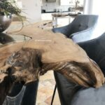 Baumkantentisch aus Teak