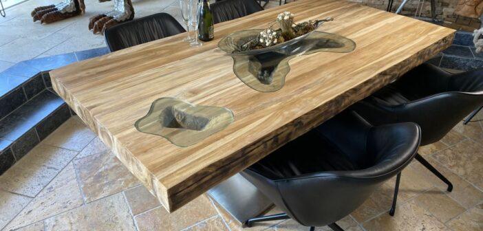 Esstisch mit dicker Tischplatte (10cm) Vollholz