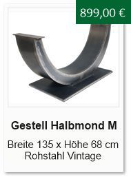 Tischgestell Halbmond gross