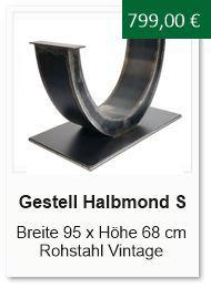 Tischgestell Halbmond klein