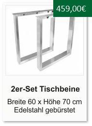 Tischgestell f�r einen Esstisch aus Edelstahl Breite 60 cm H�he 70 cm