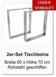 Tischgestell f�r einen Esstisch aus Rohstahl Breite 60 cm H�he 70 cm