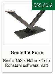 Tischgestell in V-Form