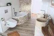 Badezimmer Mosaik Waschbecken Marmor