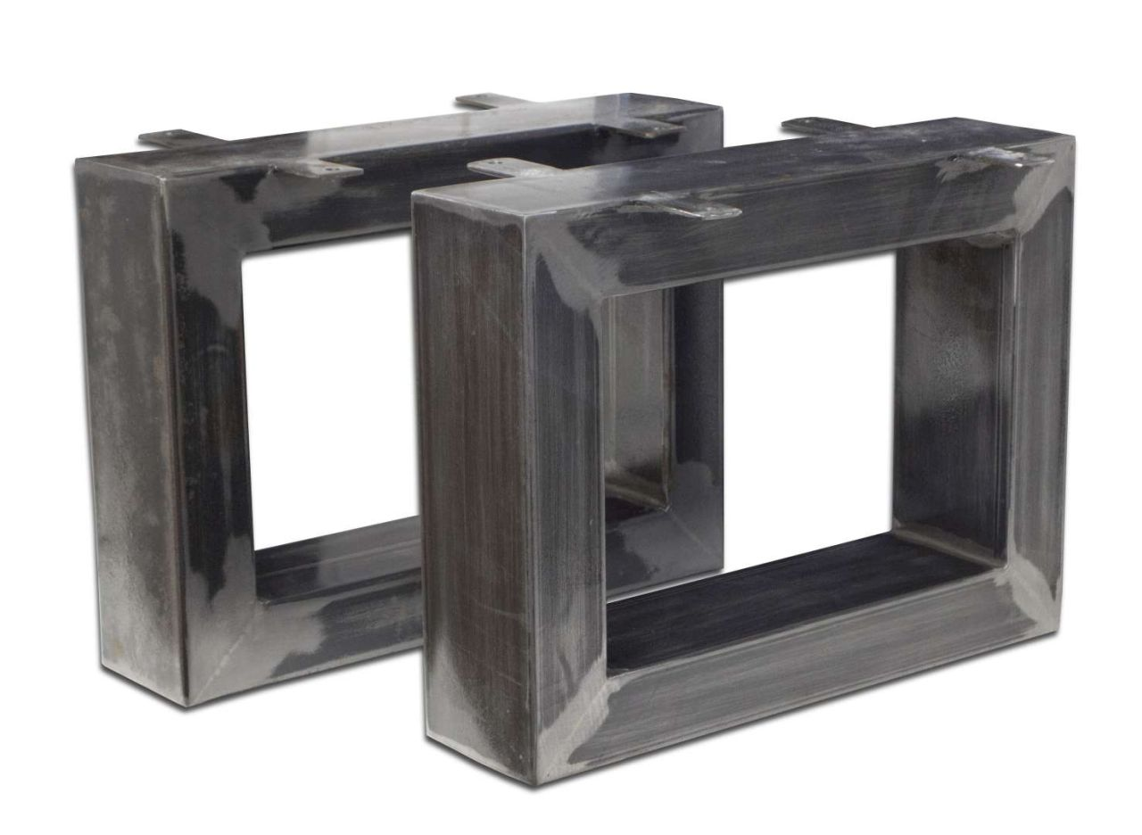 der tischonkel tischbeine aus rohstahl f r couchtische 20 x 40 cm. Black Bedroom Furniture Sets. Home Design Ideas