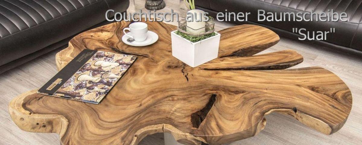 Der Tischonkel Couchtische Aus Einer Baumscheibe